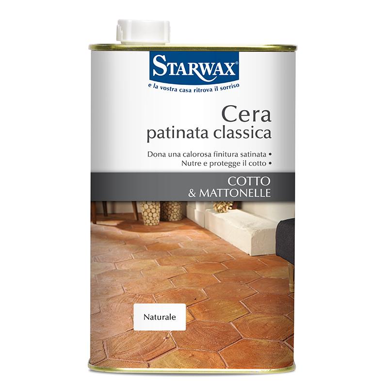 Cera patinata classica per cotto e mattonelle - Starwax