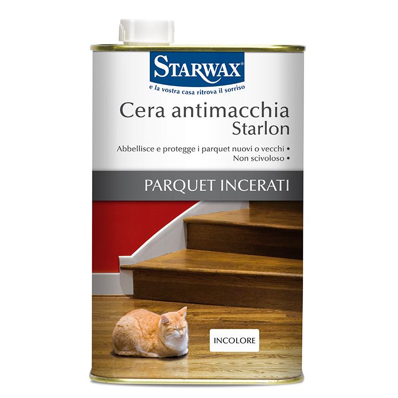 Cera antimacchia starlon per parquet incerati starwax for Cera per parquet